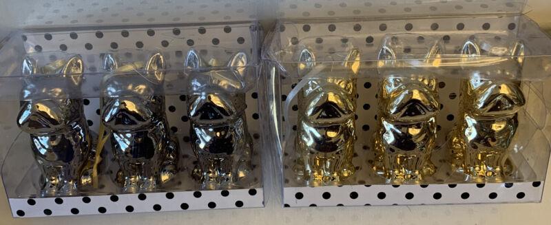 French Bulldog Holiday Ornaments Box Of 3