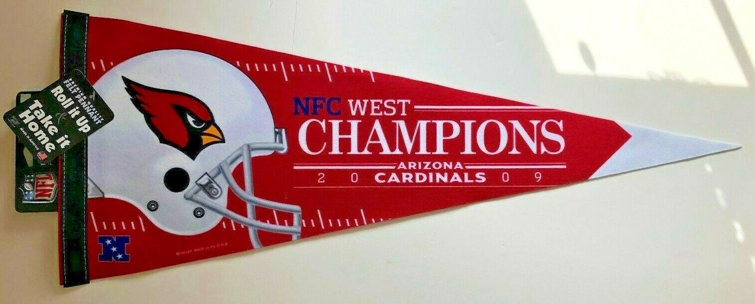 ARIZONA CARDINALS 2009 NFC WEST CHAMPIONS NFL FOOTBALL VINTA