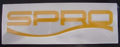 "Spro Fishing Lures Decal approx. 8"" Yellow Boat Truck Bumper"