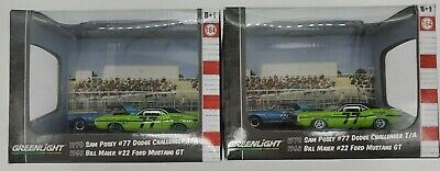 Greenlight Dioramas Series 4 Road Racers 1:64th Scale Model Set Lot of 2 Greenie