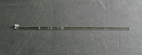 "Button Type 16 3/4"" Polished Glass Stirring Shaft Bar, 425mm x 8mm"