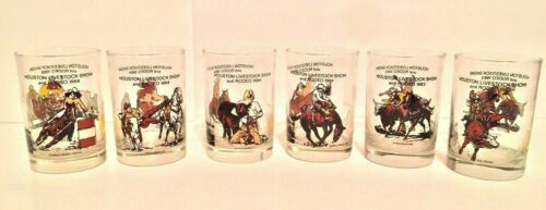 1983 & 1984 Houston Livestock Show And Rodeo Glasses Set of 6