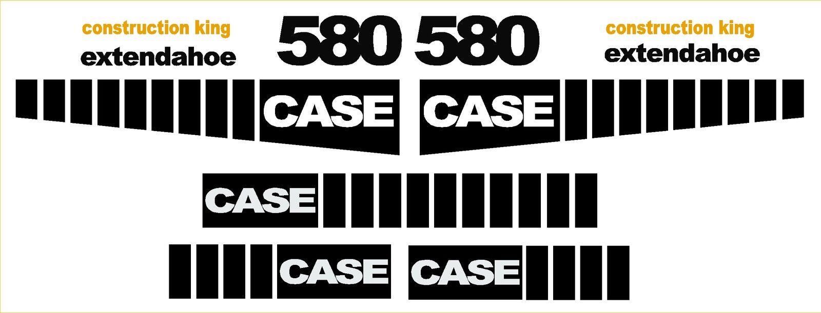 Case 580 Loader Backhoe Construction King Decal Sticker Set Decals