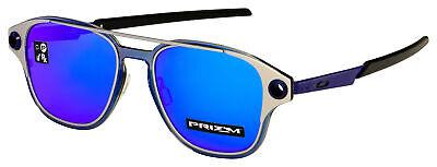 Oakley Coldfuse Sunglasses OO6042-0452 Satin Chrome   Prizm Sapphire (Chrome Lens Sunglasses)