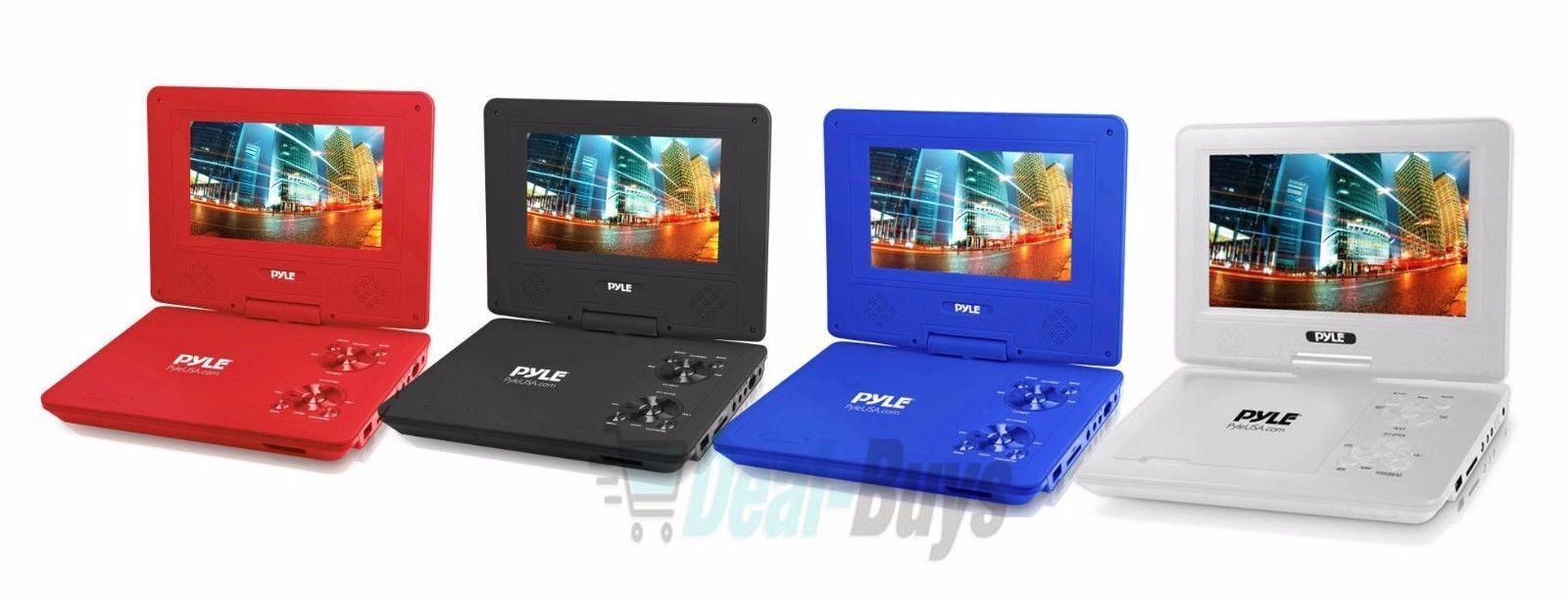 Pyle 7'' Portable DVD Player, Built-in Rechargeable Batt
