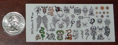 1/18 Scale Custom Tattoos: Snakes and Wings variety pack - Waterslide - Snake Scale Tattoo