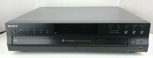 Sony CDP-CE500 Carousel 5 Disc CD Changer Player, Black - USB Record EUC Stereo