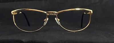 Lotos 80071 Solid 18KT Gold Large Cat Eye Jewelry Eyeglasses Collectible Frames