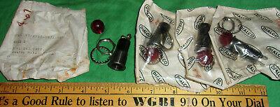 4 Vintage Dialco Red Illuminated Indicator Light Lamp 75w 125v Nos Orig Packs