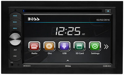 Boss Audio BV9341 Double-Din Car DVD/CD/MP3 USB SD AUX Player 6.2