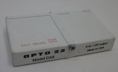 Opto 22 Da5 Standard Voltage Output Module 0 To 10 Vdc Analog Output