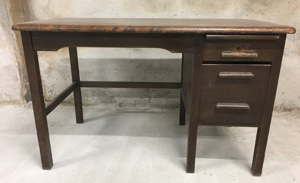 Old Writing Desk Solid Wood