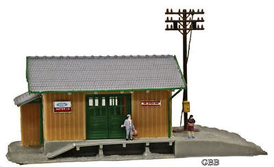 N Scale WAYSIDE STATION - LIGHTED, BUILT-UP READY TO USE Model Power New 2562