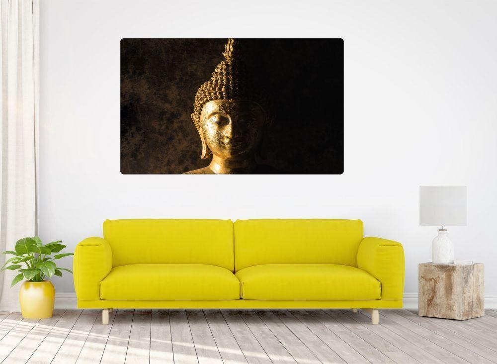 Buddha Statue Religion Wandtattoo Wandsticker Wandaufkleber R0835