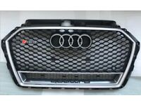 Audi A3 S3 RS3 SILVER HONEYCOMB GRILL FITS 2016-2018