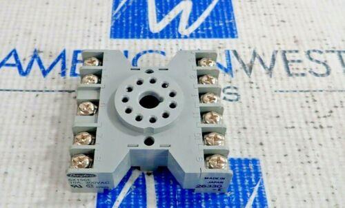 DAYTON 6X156E RELAY SOCKET BASE 10A, 300VAC