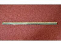 Gold Coloured Aluminium Z Edge Door Threshold Transition Strip Door Bar Divider Dividing Strip for sale  South Ockendon, Essex