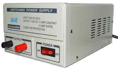 QJE 10-13amp Switch Mode 240v 12v DC Power Supply PSU for CB Two-Way Radio etc