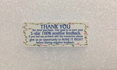 Thank You For Your Purchase Stickers 30pcs Design54 Blue