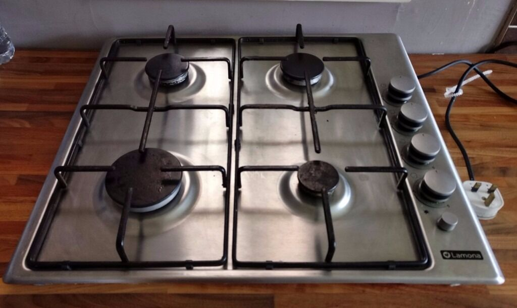 HOWDENS BEKO LAMONA LAM1001 4-BURNER Gas HOB Flame Safe Stainless Steel