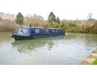 canal boat hire 2 nights min 2 people £150 per night