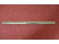 Gold Coloured Aluminium Z Edge Door Threshold Transition Strip Door Bar / Divider / Dividing Strip