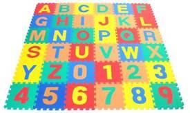 36pc Alphabet Foam Squares