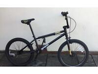 "Girls / Boys BMX Bike Monngoose BMX Logo bike 9 yrs + 20"" wheels Matt Black with Gold Logo"