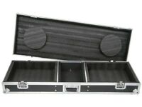 "CITRONIC COFFIN FLIGHTCASE 2x TURNTABLE & 19"" 8U DJ MIXER"
