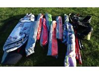 2x Windsurf boards, 2x booms, 8x sails, 2x harnesses and parts.