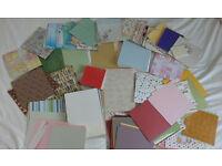 huge lot of scrapbooking papers