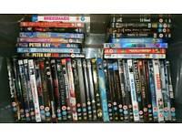 80 DVD and Bluray titles - bulk sale