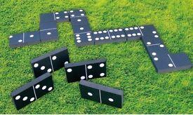 GIANT DOMINOES GARDEN OUTDOOR PATIO GAME KIDS CHILDREN & FAMILY 28 FOAM PIECES