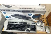 Belkin Wireless Multimedia Desktop 280 Keyboard & Mouse