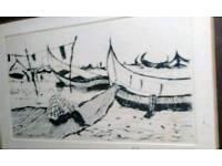 Original Sketched framed artwork. Unknown artist.
