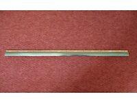 Gold Coloured Aluminium Z Edge Door Threshold Transition Strip Door Bar Divider Dividing Strip