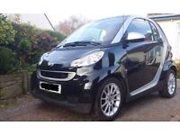 Smart Car Passion for two in Black, High Specification, Only £20 tax