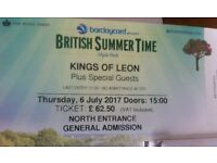 2 tickets for Kings of Leon tickets - London Hyde Park British Summer 6th July