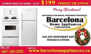 APARTMENT SIZE FRIDGES & STOVES FOR RENTAL PROPERTIES 24'' WIDE WHITE & STAINLESS STEEL  UNTIL MONDAY