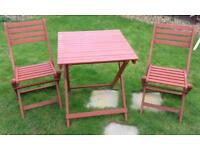 Folding Garden Table & 2 Chairs