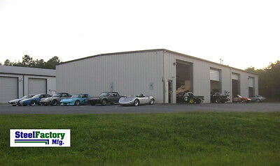 Steel 30x50x12 Prefab Metal Barn Beam Garage Building