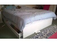 Kingsize bed frame with under-bed storage- £50 (originally £190)