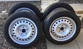 Winter Tyres 205/55R16, Continental TS850 with steel wheels