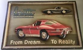 Corvette Stingray Wooden 3D picture