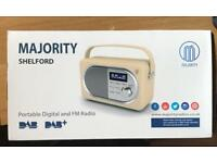 Majority Shelford Portable DAB and FM Radio