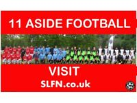 saturday 11 aside football, players needed for this weekend, find football in London