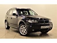 BMW X3 2.0 D M SPORT 5d 148 BHP + METALLIC CARBON BLACK + (black) 2008