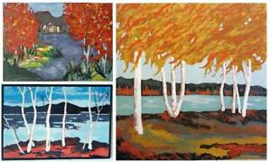 Original Landscape Paintings OAKVILLE Impressionist Art by Valerie Koudelka Group of Seven STUDENT Also Abstract Art