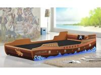 Kids Single Caribbean Pirate Ship Bed