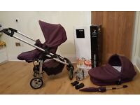 ICANDY Cherry Full Travel System Mulberry Pushchair & Carrycot Parasol Raincovers Maxicosi adaptors